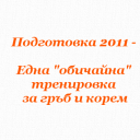 "Подготовка 2011 – Една ""обичайна"" тренировка за гръб и корем"