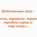 Подготовка 2011 – Рамена, трицепс, трапец – тройни серии и още нещо…