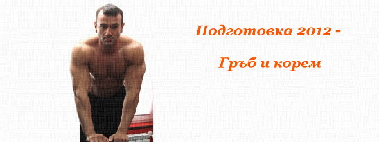 Подготовка 2012 - Гръб и корем