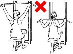 Пул-даун/ набиране зад врата - не правете това упражнение!