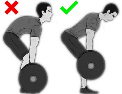 """Погрешната стойка със """"заоблен"""" гръб - отляво и правилната - отдясно"""