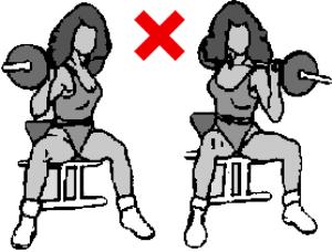 Туист с щанга от седеж (или стоеж) - не правете това упражнение!