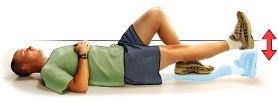 Повдигане на прав крак от тилен лег