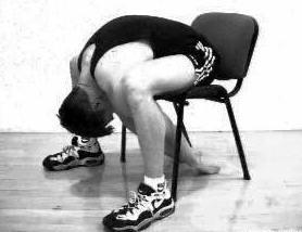Разтягане на дългите гръбни мускули от седеж