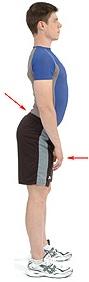 Характерната промяна в стойката при увеличена лордоза