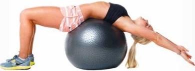 Лумбална екстензия върху топка