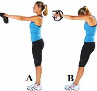 Стречинг за горната част на гърба от стоеж