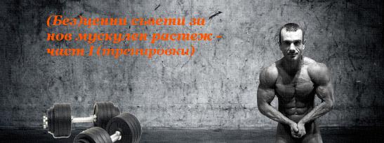 (Без)ценни съвети за нов мускулен растеж - част I (тренировки)