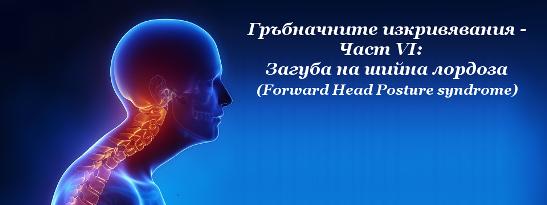Гръбначните изкривявания - Част VI: Загуба на шийна лордоза (Forward Head Posture syndrome)