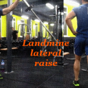Landmine lateral raise