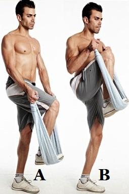 towel biceps curl